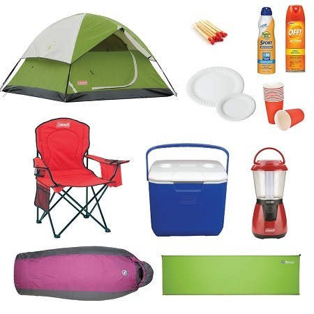 Camping Essentials Illustration