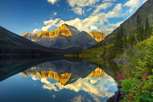 Lake in Glacier National Park, Montana